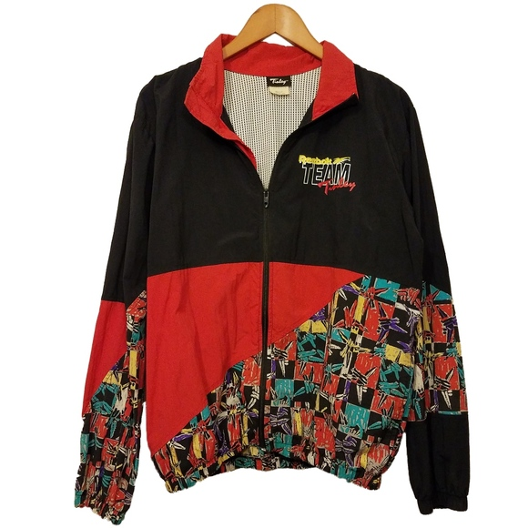 e72f44bc4e8c2 Reebok Team Tinley 90's Windbreaker Jacket